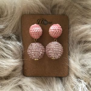 J. Crew Pink Ball Earrings